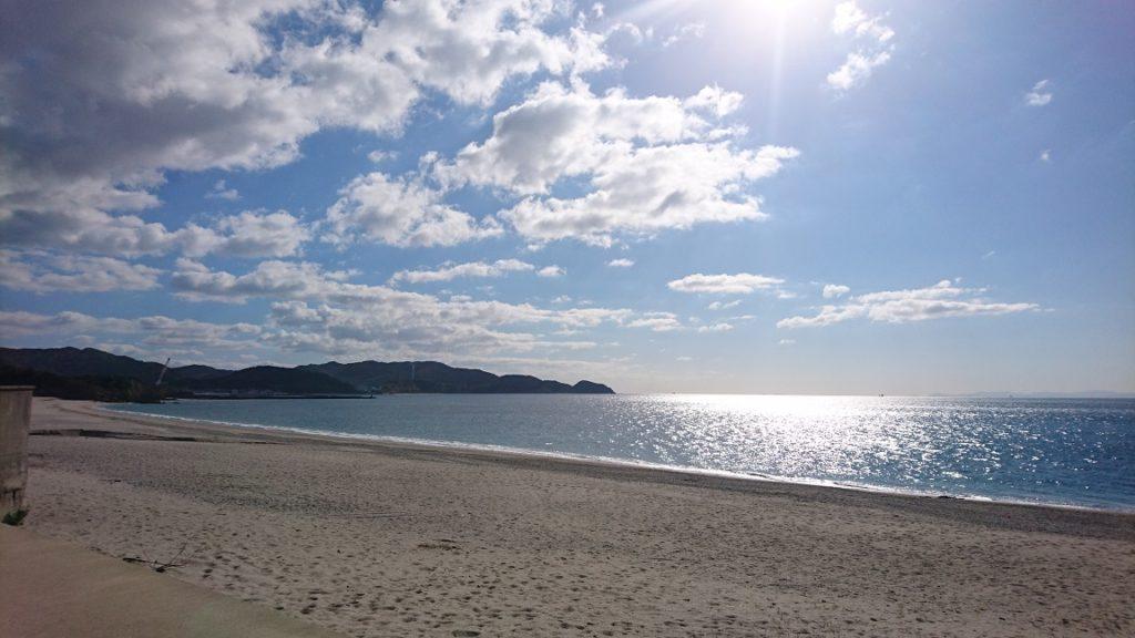吹上浜の様子