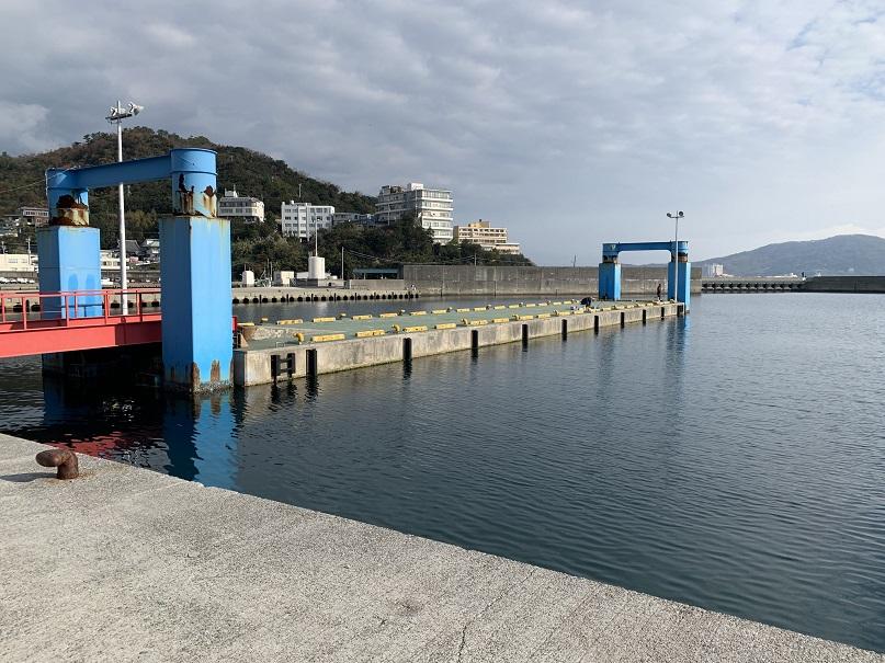 田ノ浦漁港の桟橋