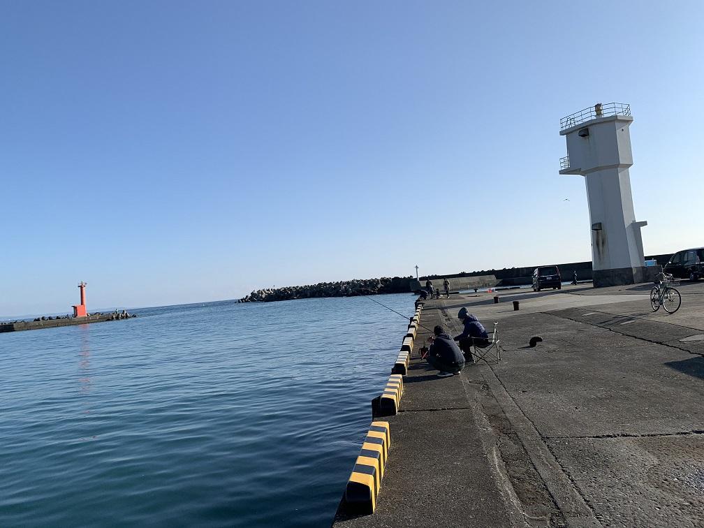千倉港での釣り座2