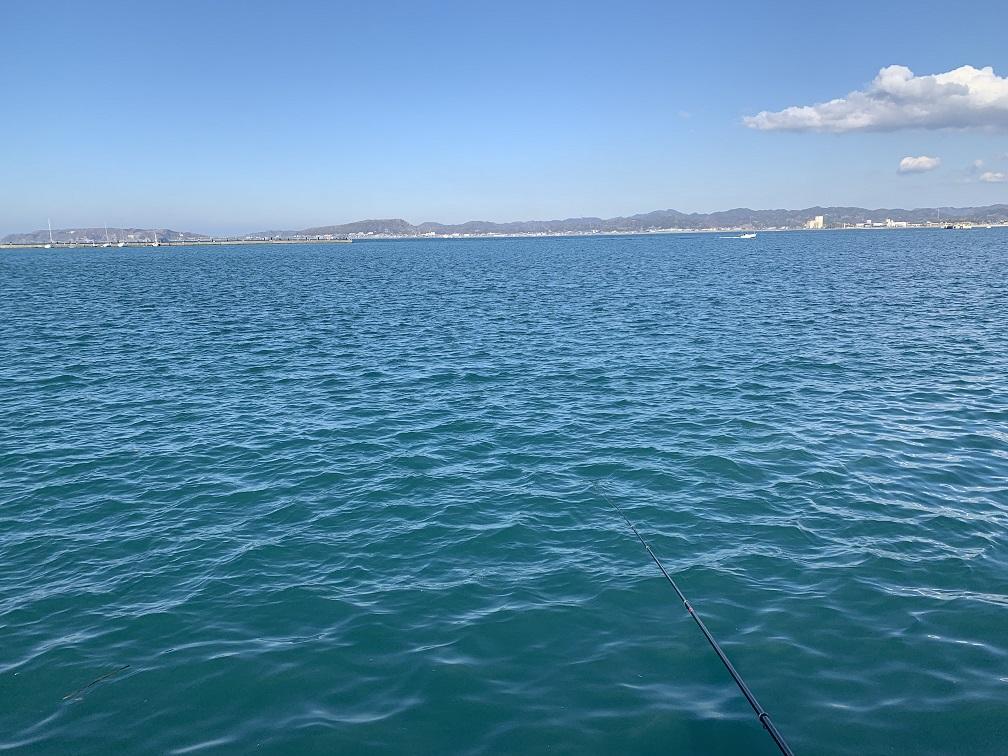 館山港での釣り座