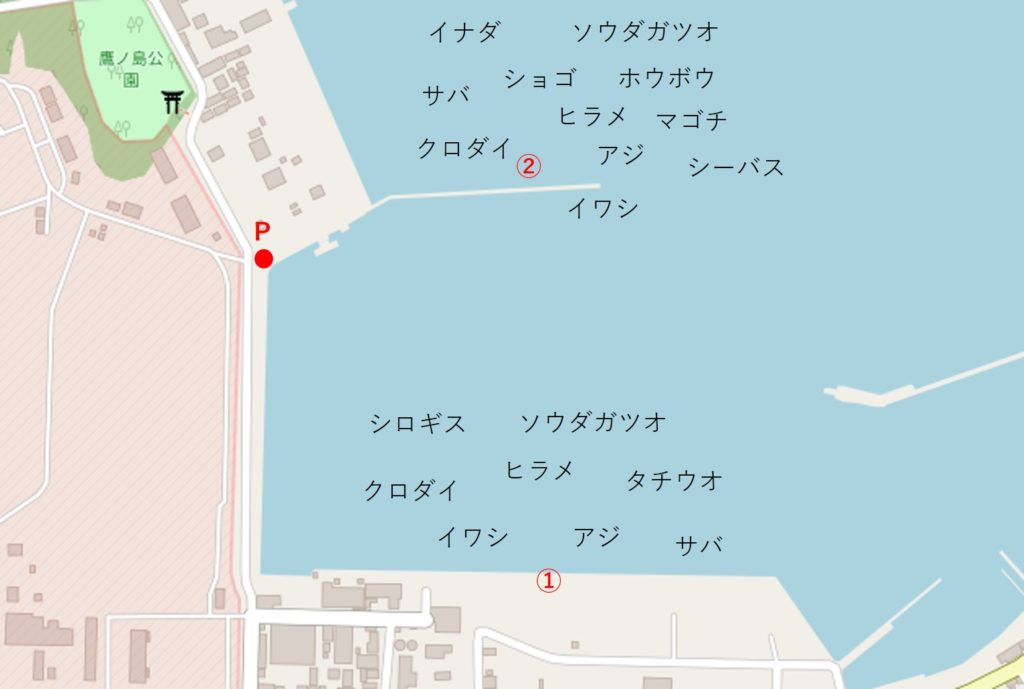 館山港釣り場